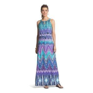 Chico's - Jill - Ikat Print - Maxi Dress
